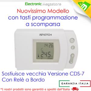 CRONO TERMOSTATO DIGITALE PER STUFE CALDAIE PROGRAMMAZIONE SETTIMANALE CDS