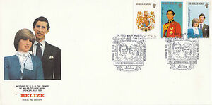 BELIZE 16 July 1981 ROYAL WEDDING SET OF ALL 3 SMALL FORMAT FIRST DAY COVER SHS - Weston-super-Mare, United Kingdom - BELIZE 16 July 1981 ROYAL WEDDING SET OF ALL 3 SMALL FORMAT FIRST DAY COVER SHS - Weston-super-Mare, United Kingdom