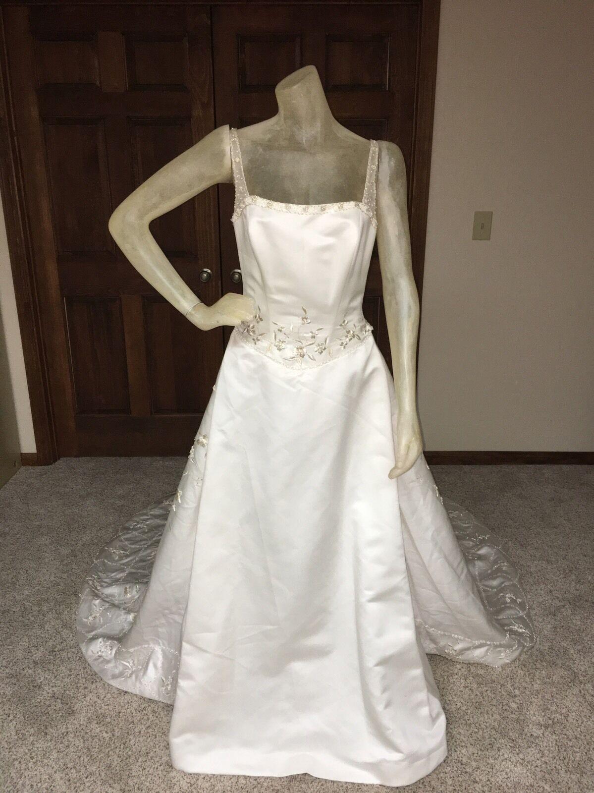 Zurc for Impression Wedding Dress Größe 12 damen Ivory Beaded detachable Train