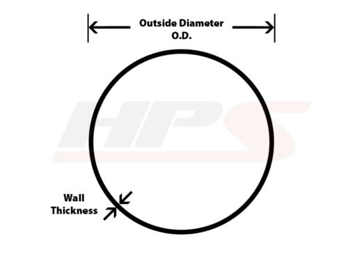 """OD x 4/"""" Long 6061 Aluminum Joiner Tube Piping with Bead Roll 41mm HPS 1-5//8/"""""""