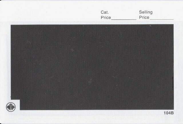 "100 G&K 101BK Display Cards Black Background 3-1/2"" x 2-7 ..."