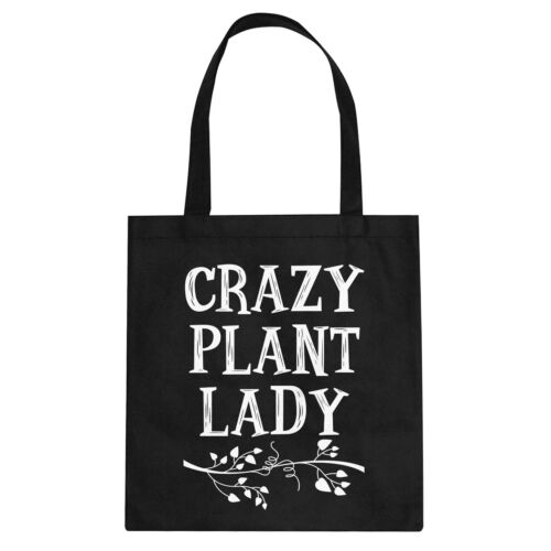 Tote Crazy Plant Lady Canvas Shopping Bag #3270
