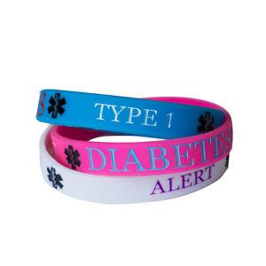 diabetes typ 1 medizinische armband silikon armband. Black Bedroom Furniture Sets. Home Design Ideas