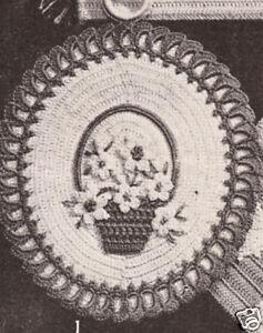 Crochet-Pot-Holder-Vintage-Set-of-3-Flowers-Pattern