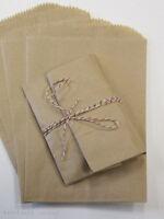 100 Brown Kraft Paper Bags,7.5 X 10.5 , Flat Pinch Bottom Bags