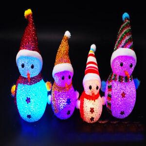 Multicolore-Noel-Bonhomme-Neige-Christmas-LED-Lampe-Deco-Lumiere-Enfant-Cadeau