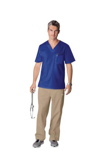 Cherokee Scrubs Workwear Men/'s Scrub Top 4743 Galaxy Blue GABW Cherokee Stretch