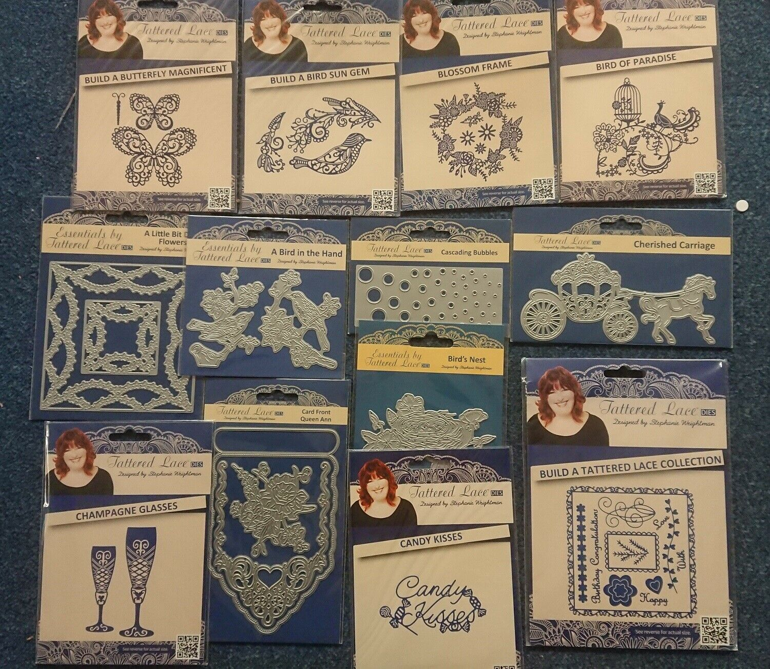 ETL365 FREE UK P/&P NEW Tattered Lace Essentials /'DAINTY FLORAL TRIO/' Die
