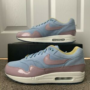 Details over NIKE AIR MAX 1 iD PATENT LEATHER SUEDE : BLUE WHITE PINK : EU 44 : UK 9