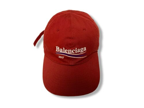 Balenciaga 2017 campaign logo ball cap red  / Hats