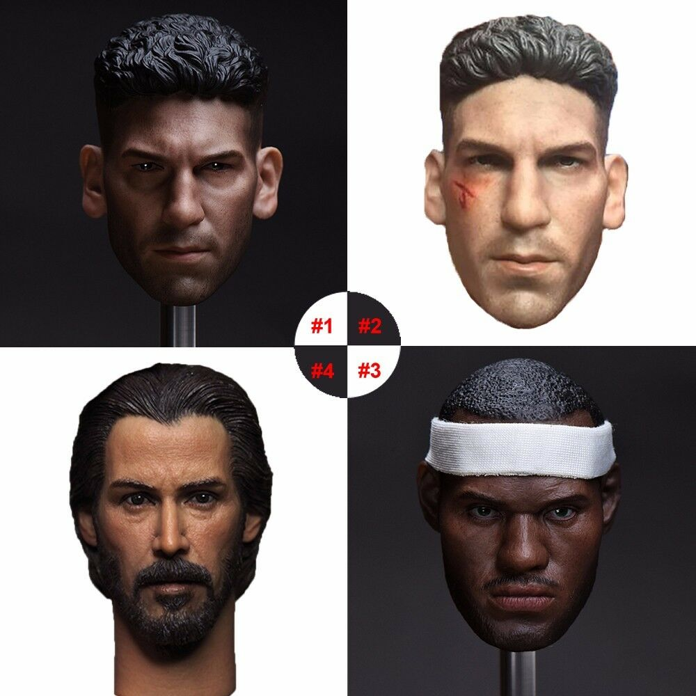 1 6 NBA Player James Super Star Actor Head Sculpt Model For 12  Male Figure Body