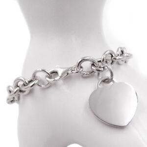 Bracciale-CUORE-in-argento-925-braccialetto-donna-catena-con-ciondolo-pendente