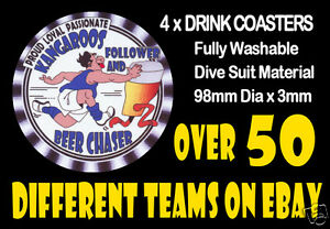 4-x-KANGAROOS-NORTH-MELBOURNE-OR-OTHER-FOOTBALL-AUSSIE-RULES-DRINK-COASTERS