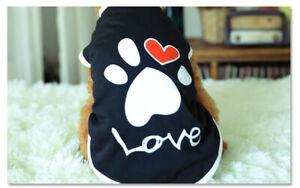 Puppy-Small-Medium-Large-Dog-Love-Footprints-Black-Vest-Pet-Clothes-for-Summer