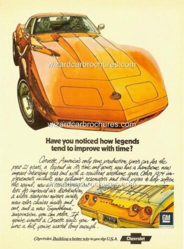 1966 CHEVROLET CORVETTE A3 POSTER AD SALES BROCHURE ADVERT ADVERTISEMENT