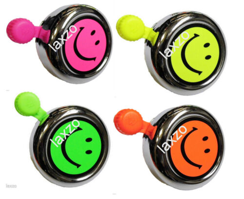 Bicycle Fluroscent Smiley Bell With Fittings Widek Bike Cycling Bells