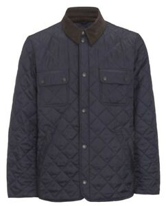 Barbour-Men-039-s-Navy-Tinford-Quilted-Lightweight-Jacket