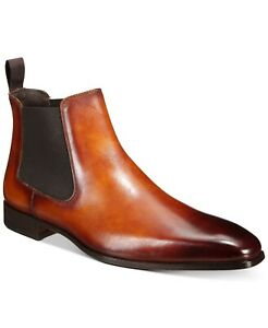 Massimo-Emporio-Men-039-s-Chelsea-Boots-Business-Fashion-Dress-Shoes
