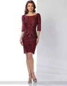 8dac3119510 Image is loading NEW-Mon-Cheri-216866-WINE-Illusion-TULLE-SEQUINED-