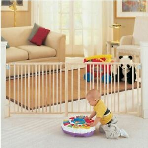 Large-Baby-Gate-Child-Dog-Pet-5-To-8-Foot-Wide-Long-Gates-Ft-Safety-Strong-NEW