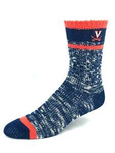 Virginia-Cavaliers-For-Bare-Feet-Navy-and-Orange-Alpine-Crew-Socks