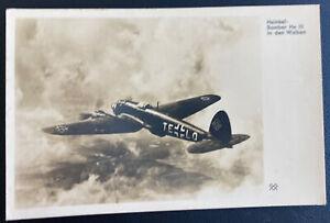 1941 Osnabruck Germany RPPC Real Picture Postcard Cover Heinkel Bomber HE III