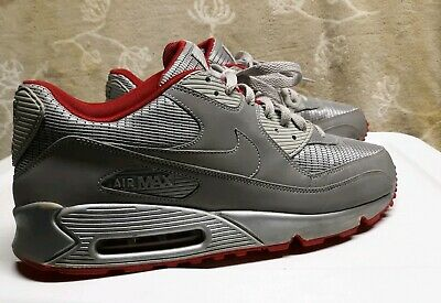 NIKE AIR MAX 90 ATTACK PACK REFLECT 3M METALLIC SILVER RED 325018-009 SIZE 13   eBay