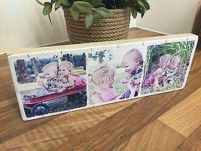 """11x4"""" Personalizzato Foto Blocco Famiglia Amicizia Matrimonio Compleanno Baby Placca- Rendere Le Cose Convenienti Per Le Persone"""