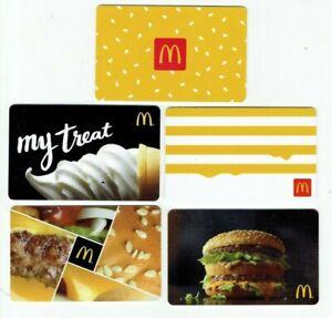 McDonalds-Gift-Card-LOT-of-5-Burger-Big-Mac-Soft-Serve-Stripes-No-Value