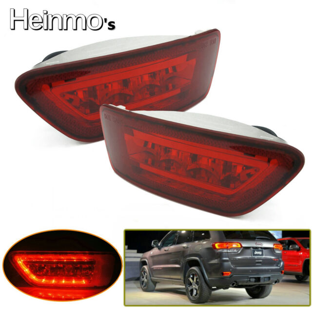 Rear LED Fog Tail Lights For Jeep Grand Cherokee WK2 Compass Patriot 2011-2015