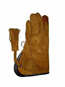 Children-Nubuck-Leather-Glove-2-Layers-Double-Skinned-Falconry-Child-Glove-Brown
