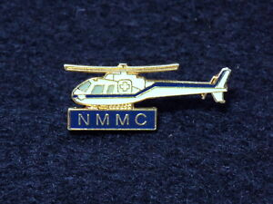 Vintage NMMC Air Transport Medical Helicopter Pin Badge