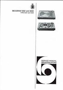 Anleitungen & Schaltbilder Bang & Olufsen B & O Service Manual Für Beogram 1202 3000 Englisch Copy MöChten Sie Einheimische Chinesische Produkte Kaufen?