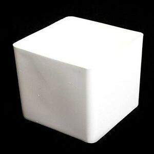 Cube plastic planter 105cm white home garden square flower pot image is loading cube plastic planter 10 5cm white home amp mightylinksfo