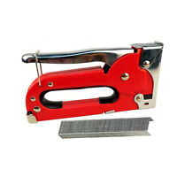 Heavy Duty Metal Staple Gun Easy Squeeze Upholstery Tacker Tool For Home Office