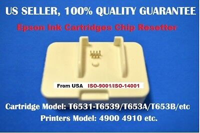 Epson Ink Cartridge Chip Resetter 4900 4910 re setter T6531-T6539 T653A T653B rg