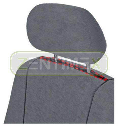 Fundas para asientos ya referencias set euu para Hyundai h-1 h1 tela gris oscuro