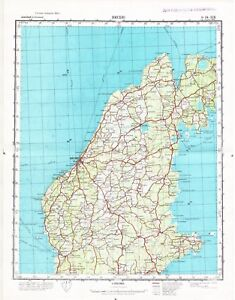 Russian Soviet Military Topographic Map Visby Sweden Gotland