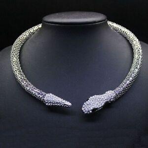 gold-Luxury-Rhinestone-Snake-chain-necklace-choker-Statement-jewelry-for-women