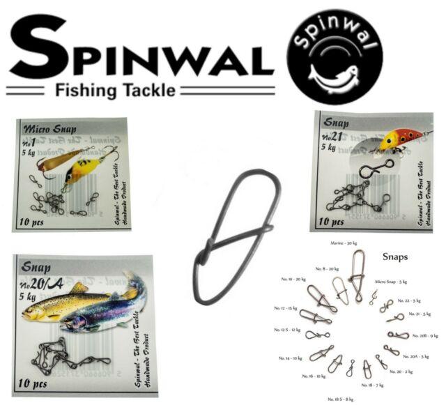 2Kg 10 pcs pike perch zander chub lure SPINWAL FISHING SNAP cw swivel  no20