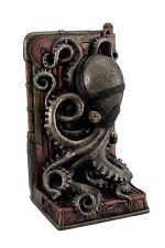 """8"""" Steampunk Octopus Single Bookend Home Decor Statue Animal Figure Figurine"""