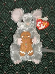 """TY Beanie Baby * STIRRING * Mouse with Gingerbread * 5"""" * 2007 * RARE * MWMT"""
