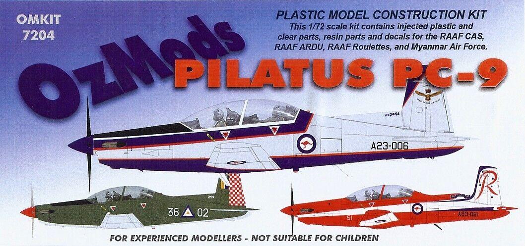 1 72 OZMODS; Pilatus PC-9 A RAAF, Roulettes, ARDU, CAS & Myanmar Air Force