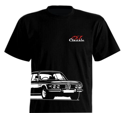 T-Shirt Classic Oldtimer  3.0 CSI E9 Coupe 1968-1975 2.5-3.2 Liter 2000C BMW