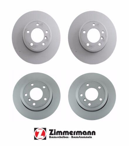 For BMW E60 E61 525xi 528i 535i 06-10 Front /& Rear Disc Brake Rotors Zimmerman