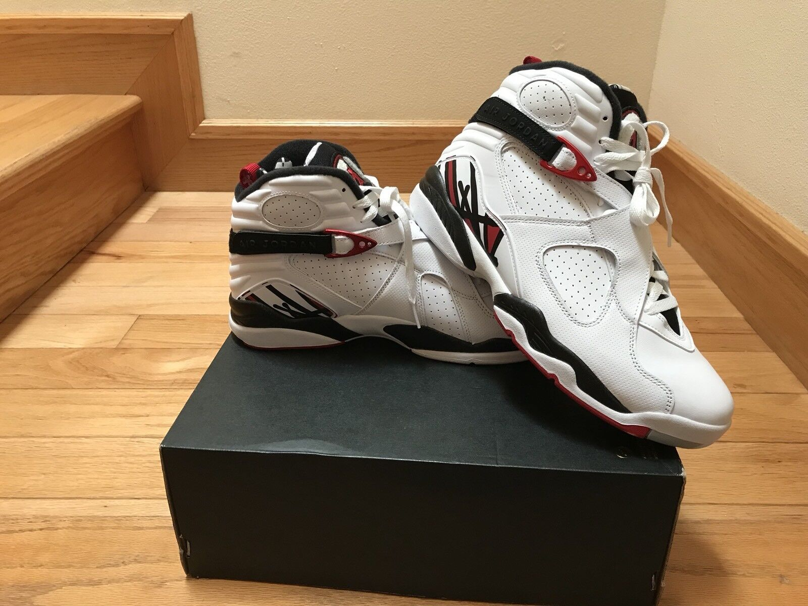 Mens Air Jordan 8 Retro 305381-104 White Gym Red Brand New Size 10