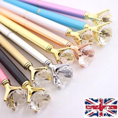 Quality Scepter Crystal Metel Ballpoint Pen Good Gift Bling Diamond On the Top