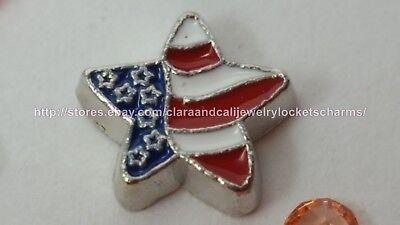 Red Heart love Valentine Floating Charm for Memory Locket USA seller fc334