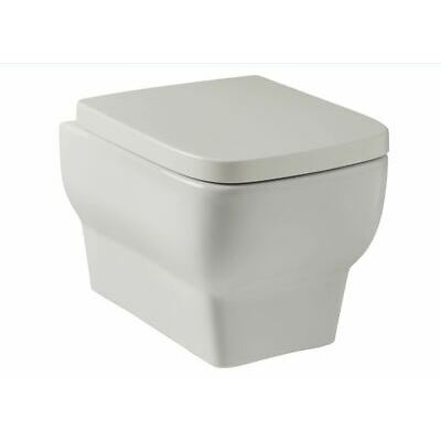 Modern Square Wall Hung Mounted Toilet Pan square WC Slim Soft seat