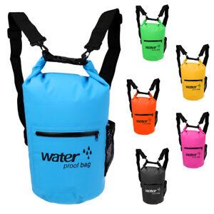 d5ef1d322cdf 10L 20L Waterproof Dry Bag Backpack Pouch Sack Floating Boating ...